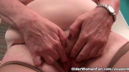 Granny nurse takes care...
