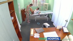 FakeHospital Patient gives his...