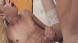 Exciting Blonde Shemale Fucking...