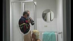 Filming a milf showering...