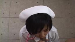 Asian nurse is sucking...