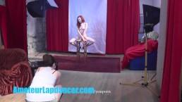 Gorgeous 18yo redhead shows...
