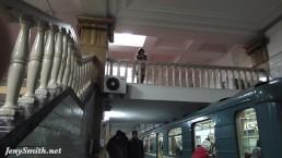 Jeny Smith subway upskirt...
