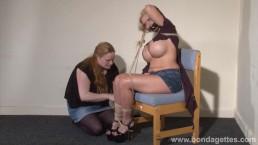Lesbian bondage of Melanie...