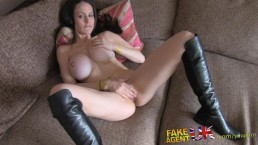 FakeAgentUK Anal casting with...