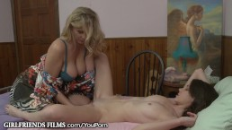 Lesbian teen Guided by...