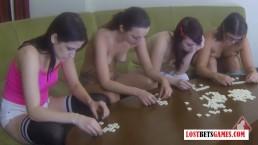 4 Beautiful Women Stripping...